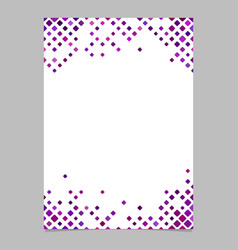 Diagonal square pattern page border template vector