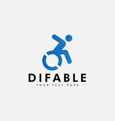 difable different ability logo design template vector image