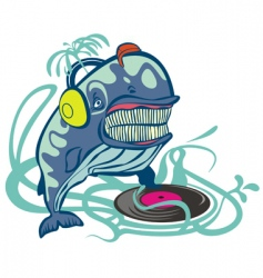 dj whale vector image vector image