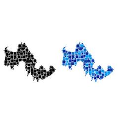 Dot tilos greek island map with blue version vector