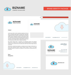 downloading business letterhead envelope and vector image
