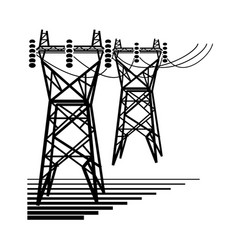 Electricity the electric power transmission vector