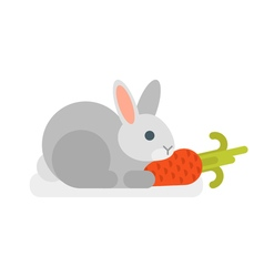 flat style of rabbit vector image