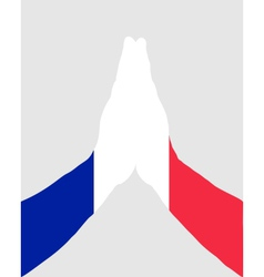 French pray vector image