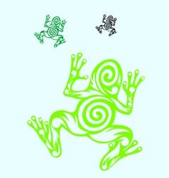 Frog ornate vector
