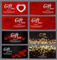 Gift Voucher Template For Your Business Valentine vector