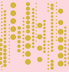 gold circles on pink background seamless pattern vector image
