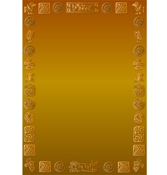 Golden back with golden mexican signs vector