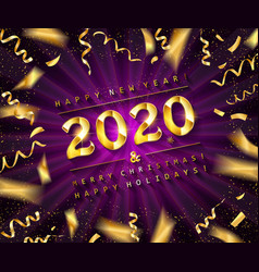happy new year 2020 vector image