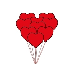 Heart balloon love romantic icon graphic vector
