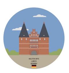Holsten Gate Lubeck vector image