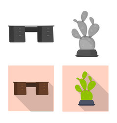 isolated object furniture and work sign vector image