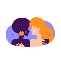 lesbian couple modern flat character vector image