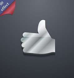 Like Thumb up icon symbol 3D style Trendy modern vector image