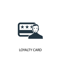 loyalty card icon simple element vector image
