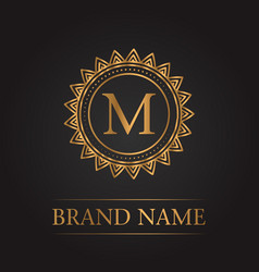 luxury gold template monogram vector image