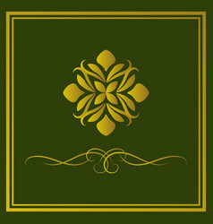 luxury logo design abstract emblem vector image