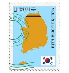 Mail to-from South Korea vector