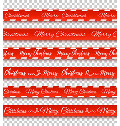 merry christmas red banners vector image