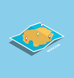 Moscow russia western explore maps with isometric vector