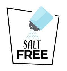 No salt isolated icon shaker and salty powder vector