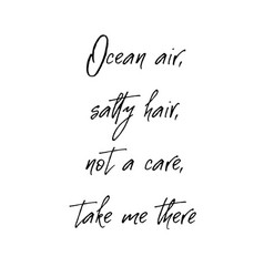 ocean air salty hair not a care take me there vector image