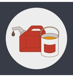 Oil gallon and paint bucket vector