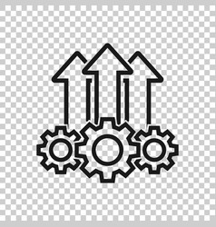 Operation project icon in transparent style gear vector