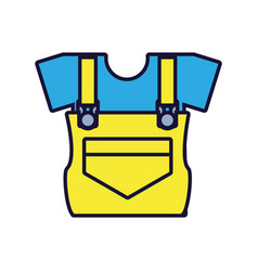 Overall uniform construction isolated icon vector