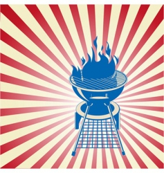 patriotic barbecue vector image