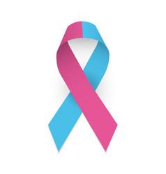 Pink and blue ribbon colorful satin ribbon as vector