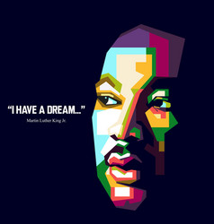 quote from martin luther king vector image