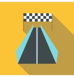 Race road for cyclists icon flat style vector image