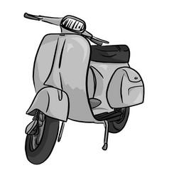 retro gray motorcycle sketch doodle vector image