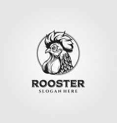 rooster chicken logo vintage design chicken logo vector image
