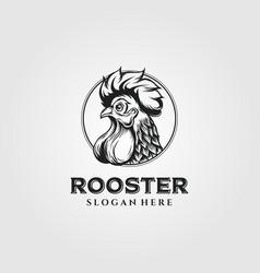 Rooster chicken logo vintage design chicken logo vector