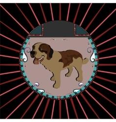 Saint bernard Dog vector image