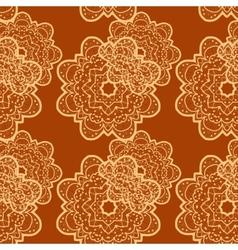 Seamless outlined mandala flower like background vector image
