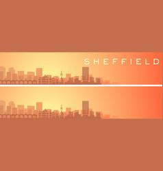 Sheffield beautiful skyline scenery banner vector