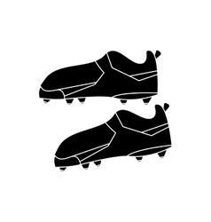 silhouette american football boot shoes spiked vector image