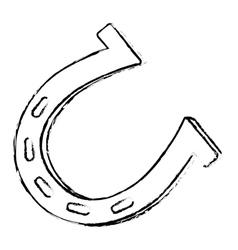 single horseshoe icon image vector image