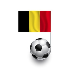 Soccer Balls or Footballs with flag of Belgium vector