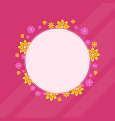 spring flower wreath frame collection vector image
