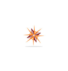 Star geometry abstract logo vector