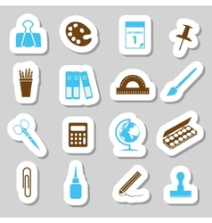 stationery stickers vector image