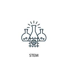 Stem concept line icon simple element vector