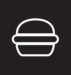 Stylish black and white icon american burger vector