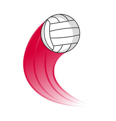 volleyball ball with an effect vector image