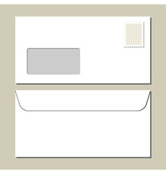White mailing envelope vector