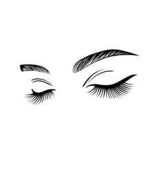 Womens eyes with long eyelashes vector